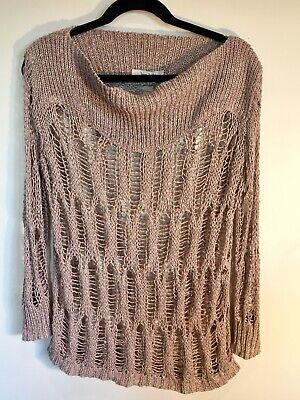 Jac + Jack Size S Open Knit Jumper