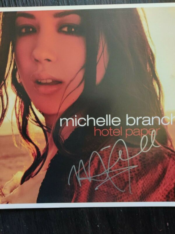"2003 MICHELLE BRANCH 12"" Promo poster Autographed Hand signed Hotel Paper"