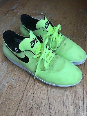 Nike SB Lunar Oneshot Green Black Used 10uk Worn