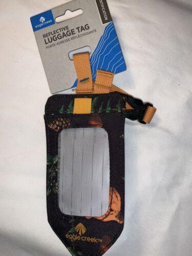 Eagle Creek Reflective Luggage Tag. Dark Blue Orange And Green - $11.00