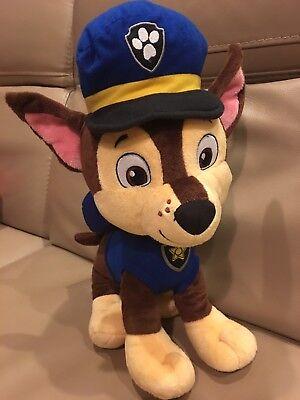 """Paw Patrol CHASE Large Plush 16"""" Pup Boy Dog Blue Nickelodeon Nick Jr Toy"""