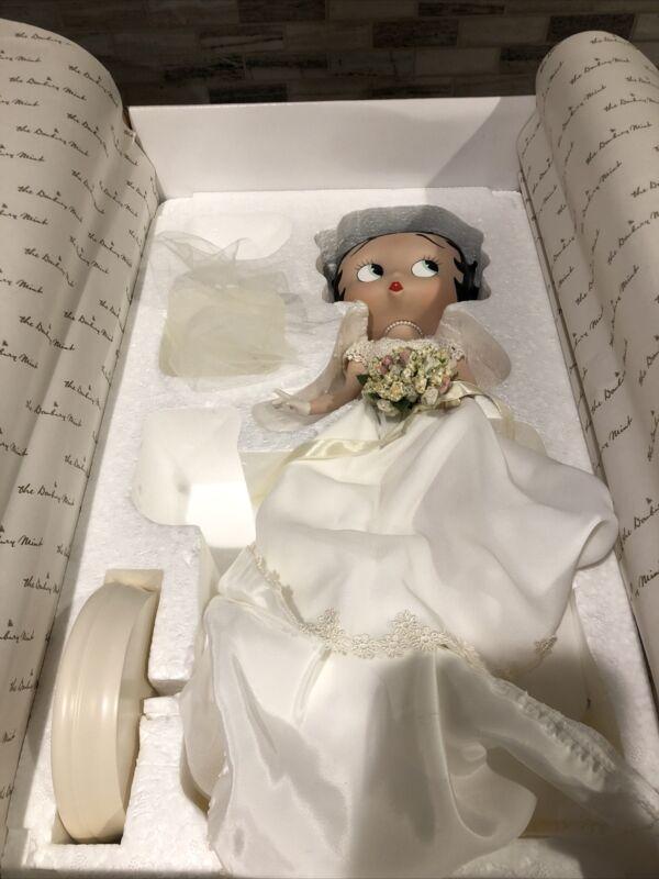 Betty Boop Bridal Beauty Danbury Mint Porcelain Doll Figure 2000 Statue