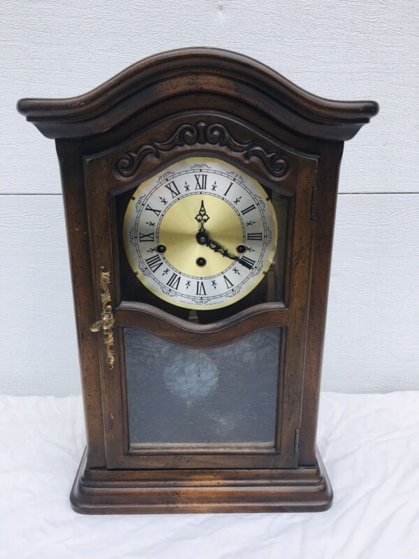 Vintage Sligh USA Chime Mantel Clock Trend Clocks Movement #712 Key Wind