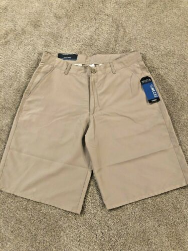 NWT$36 Nautica Boys School Uniform Khaki Wicking Shorts Size 20 N861056Q