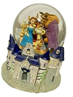 Beauty & The Beast Musical Snow Globe Disney Water Globe