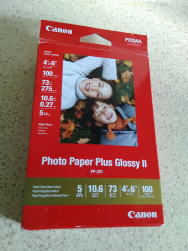 "Canon 100-Pack 4"" x 6"" Glossy Photo Paper White 2311B023"