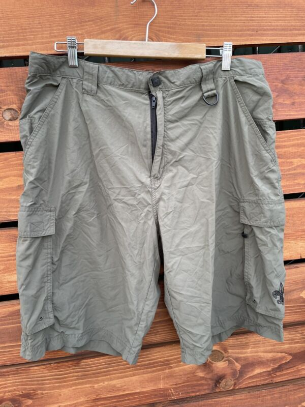 Boy Scouts Of America Mens Green Cargo Shorts Size Large