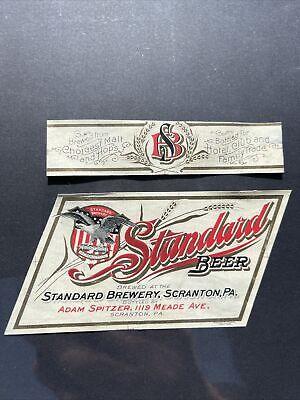 Standard Beer Labels Pre Prohibition Standard Brewing Co Scranton pa