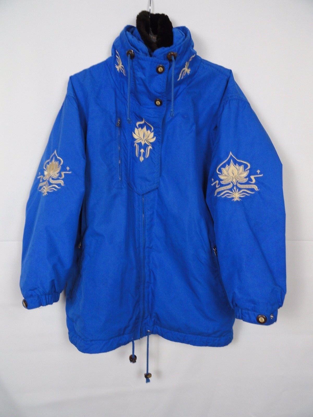 Купить Bogner - RARE Women's BOGNER BLUE Ski Jacket Removable FAUX FUR COLLAR Sz 12 Made in USA