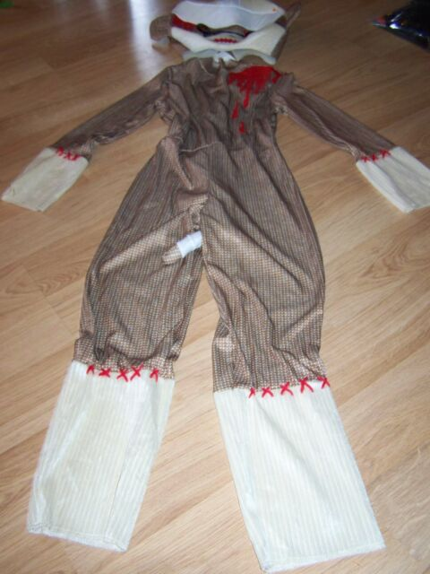 Size Medium 8 Zombie Sock Monkey Halloween Costume Disguise New NWOT & Size Medium 8 Zombie Sock Monkey Halloween Costume Disguise | eBay