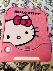 Hello Kitty CD Player AM/FM Alarm Clock Radio Sanrio Pink White Tested