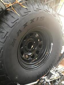 "35"" (315/75r16) Maxxis Bighorns x5 with 16"" steel wheels Forest Lake Brisbane South West Preview"
