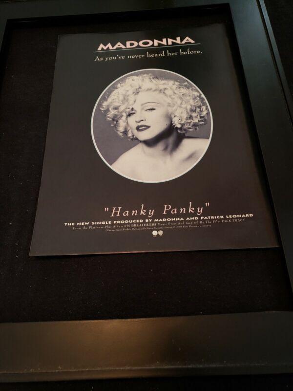 Madonna Hanky Panky Rare Original Promo Ad Framed!