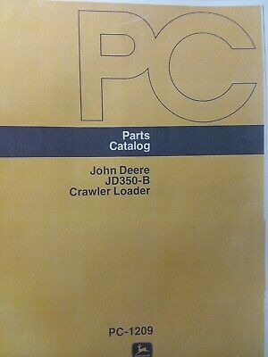 John Deere Jd350-b Crawler Loader Parts Manual 350 Tractor Dozer Pc-1209