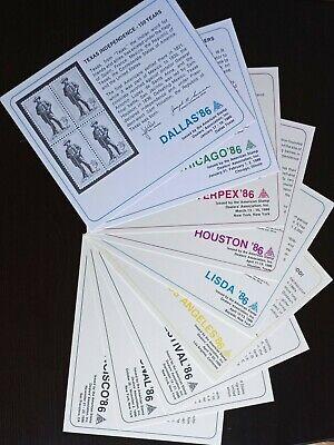 ASDA Souvenir Cards SET of 9 1986 FREE Shipping