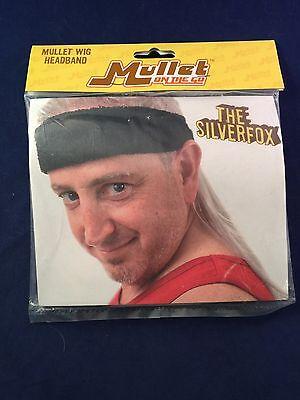 MULLET ON THE GO THE SILVERFOX HALLOWEEN JOKE HEADBAND WIG (Headband Jokes)