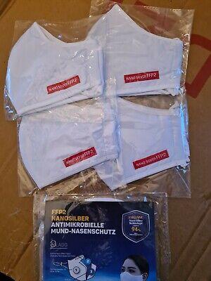 2 St FFP2 Atemschutzmaske Mundschutz Maske 30 x waschbar 3 lagig Gesichtsmaske