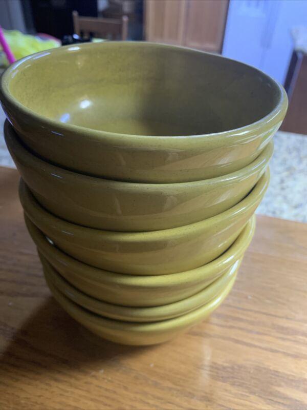 Set Of 6 Vintage Frankoma Pottery Soup/Chili Bowls 6X
