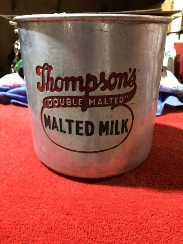 Thompson's Malted Milk Canister