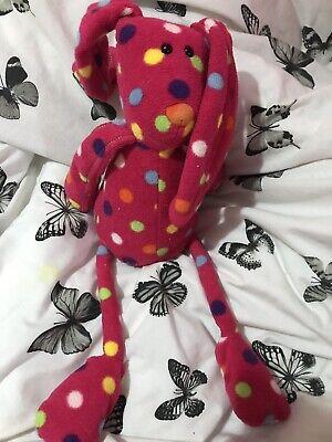 - Jellycat Les Animals Le Bunny Rabbit Pink Spotty Soft Toy Plush Comforter