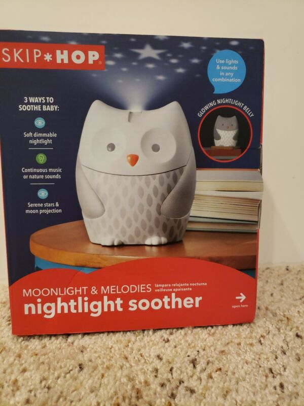 Skip Hop Nightlight Owl Soother, Sound Machine - Tested and working