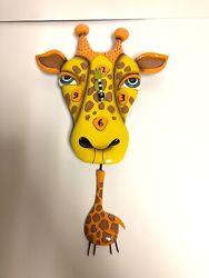 Allen Designs Jaffy the Giraffe Animal Battery Wall Clock with Pendulum