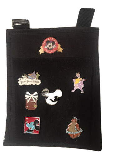 Disney Cast Mamber Pin Pouch With 6 Pins Included  - $17.10