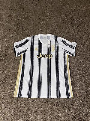 Adidas 2020-21 Juventus Stadium Home Soccer Jersey Mens Size S White EI9894 image