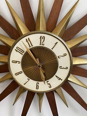 MCM Vintage Elgin Sunburst / Starburst Clock