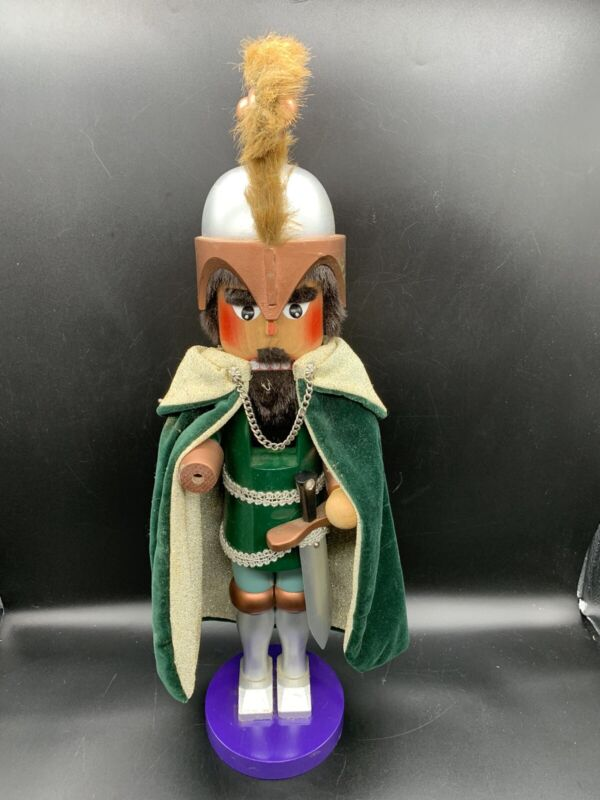 """Steinbach Nutcracker Soldier With Sword Green Jacket Germany 18"""" Tall"""