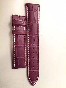 NEW Longines Alligator Watch Strap and Deployant Clasp
