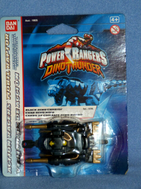 POWER RANGERS DINO THUNDER BLACK DINO CHARIOT NEW DIECAST