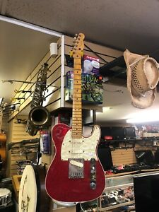 1997 fender telecaster American neck sparkle red