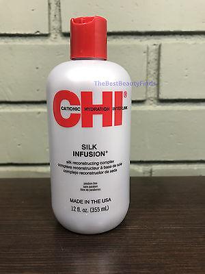 CHI Silk Infusion Silk Reconstructing Complex 12oz - SEALED & FRESH - Fast Ship!