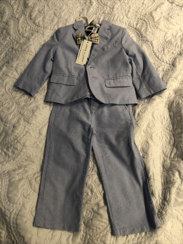 Janie and Jack Toddler Suit, 18-24 month with bow tie