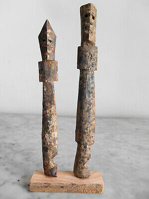 Set Of Figure Aklama Adan Adangbe People Ewe 20cm +21cm Art Tribale Primitive.**