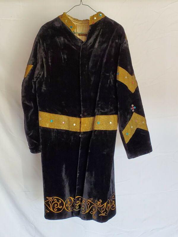 Antique Odd Fellows Black Jacket With Gems