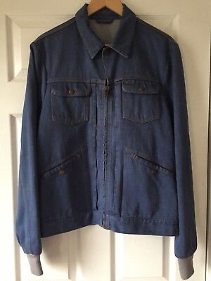 Louis Vuitton Mens Jean Coat (48) Made In Italy  Excellent Condition Very Heavy