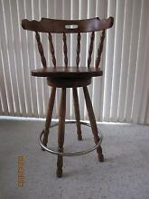 4 solid timber swivel type bar stools Engadine Sutherland Area Preview