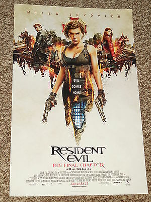 Resident Evil  The Final Chapter  B  11X17 Promo Movie Poster