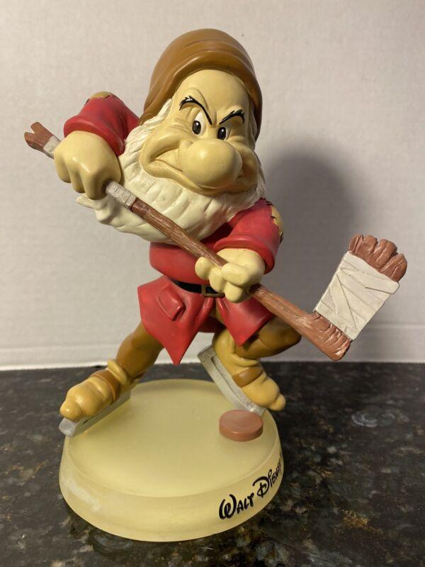 Grumpy Dwarf Hockey Player Walt Disney Parks Bobble Head Bobblehead Rare