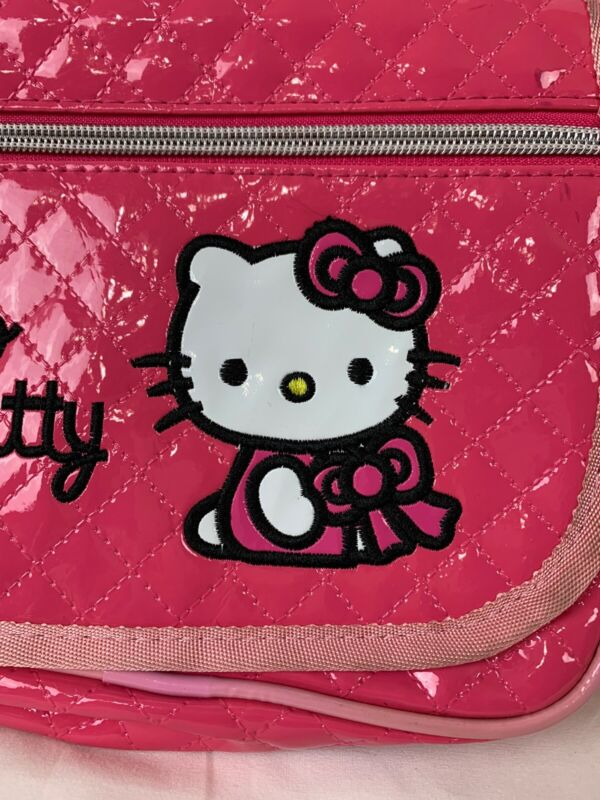 Hello Kitty Small Pink Vinyl Purse Front Flap