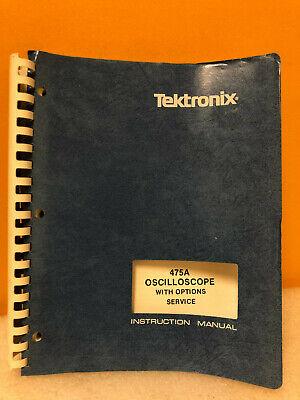 Tektronix 070-2162-00 475 Oscilloscope W Options Service Instruction Manual