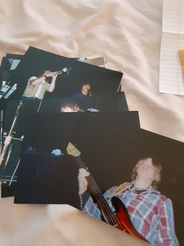 Terry Kath Chicago Photos with Negatives and Copy Right Programs Mags Tix
