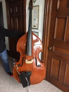 3/4 Stentor Conservatoire Upright Bass with Accessories