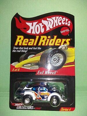 Hot Wheels RLC Series 4 Real Riders Evil Weevil Racing VW Bug Beetle Goodyears