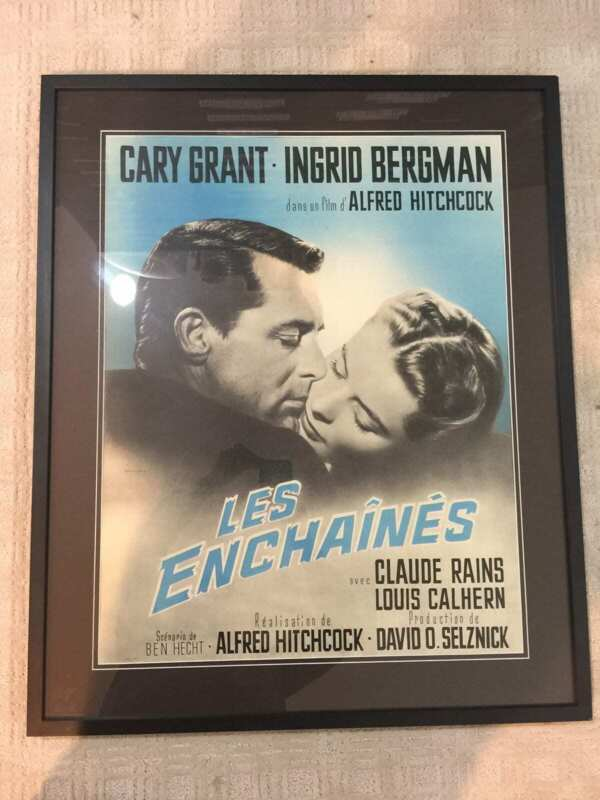 Les Enchaines - Notorius (1946) US Movie Poster - Framed