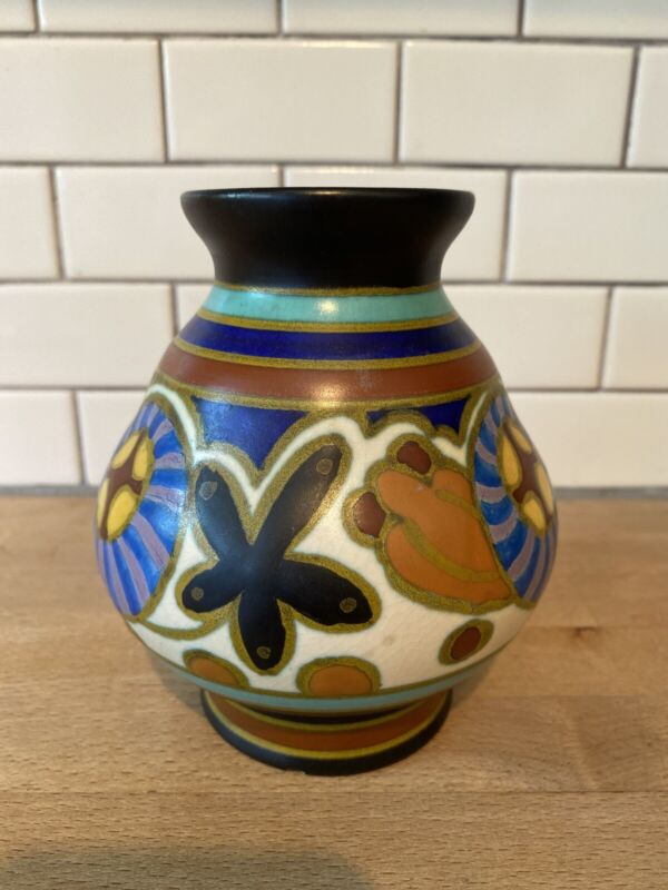 Gouda Holland Adama Bud Vase Art Pottery