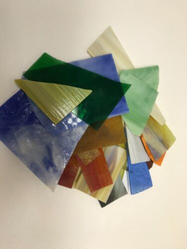 Stained Glass Scrap - Large Pieces - Five Pounds - FREE FREIGHT