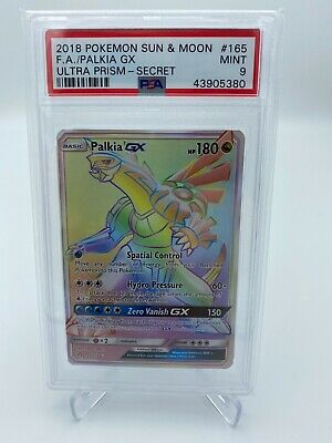 2018 POKEMON SUN & MOON ULTRA PRISM PALKIA GX SECRET #165 PSA 9 MINT